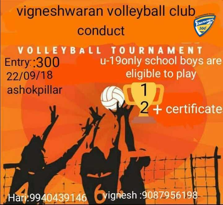 Volleyball Tournament in Chennai