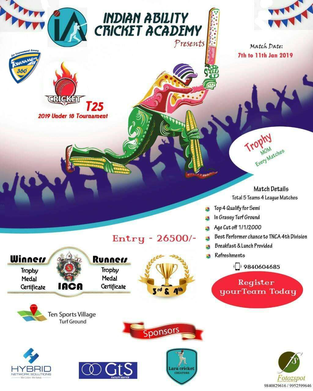 Under 18 Cricket Tournament 2019
