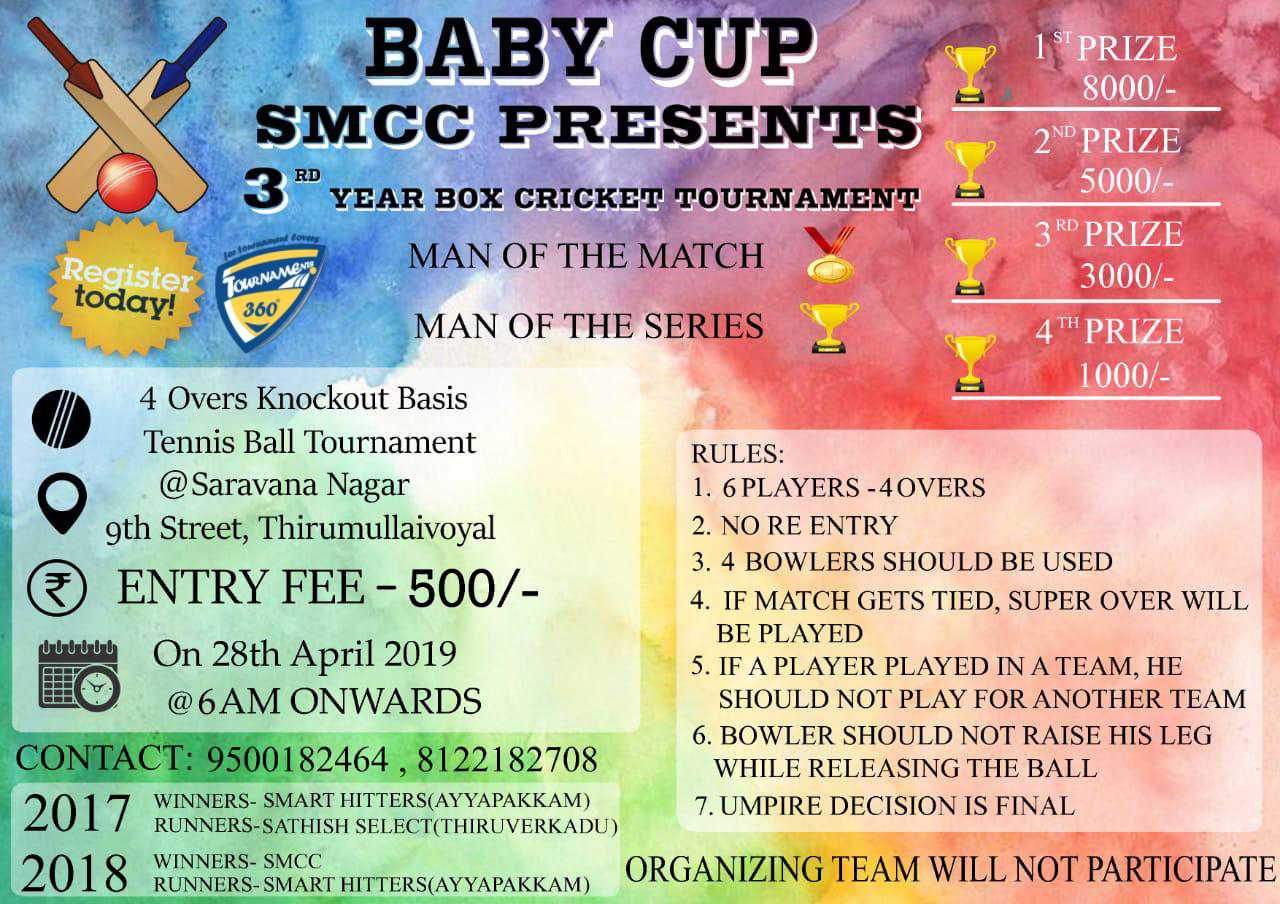 Baby Cup 3rd Year Box Cricket Tournament