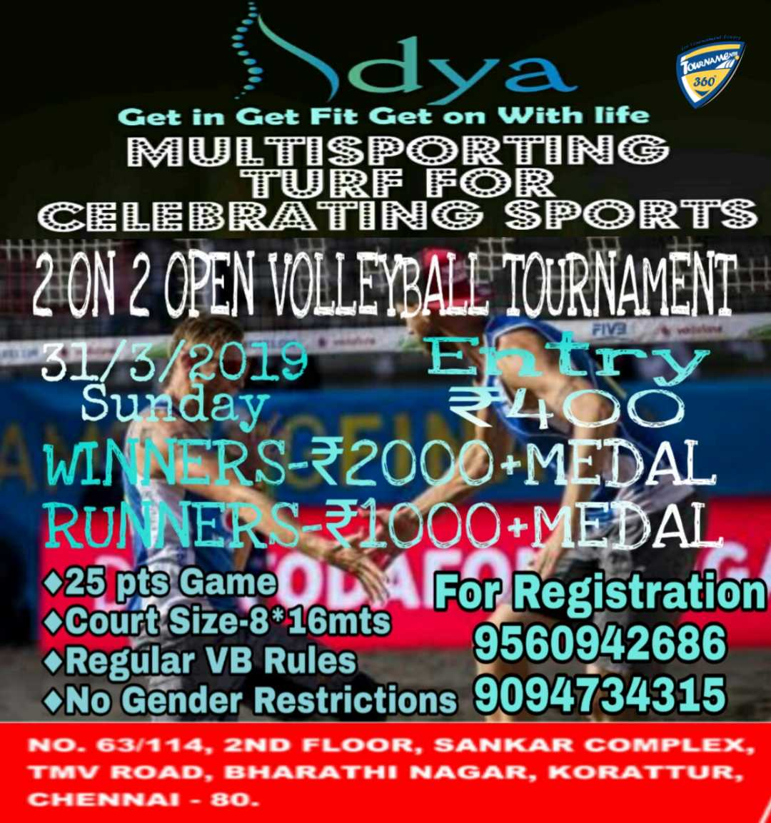 2 on 2 Open Volleyball Tournament