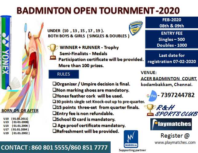 Badminton Open Tournament 2020