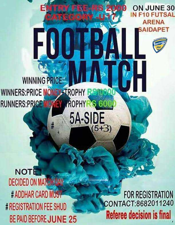 U17 5A Side Football Tournament